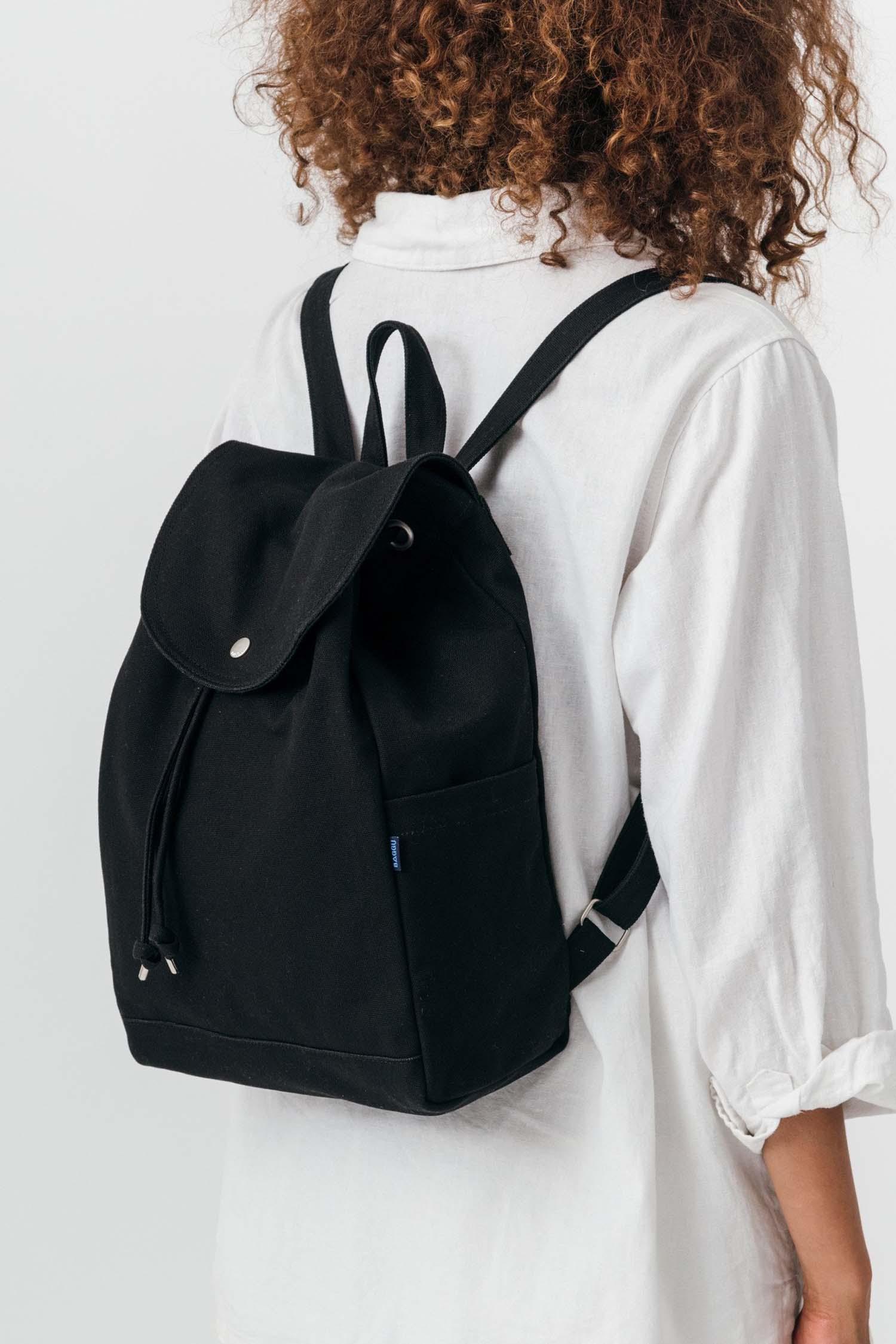 494a462b2 Baggu - Drawstring Backpack, Black, Marinsel Webshop