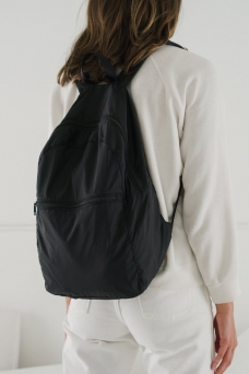 Packable Backpack, Black