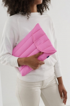 Puffy Laptop Sleeve 13\'\', Bright Pink