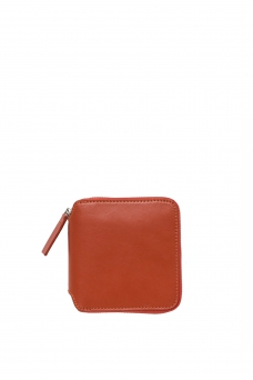 Square Wallet, Brick Red