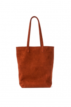 Tote Basic, Suede Rust
