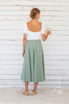 Laurel Skirt, Iceberg Green