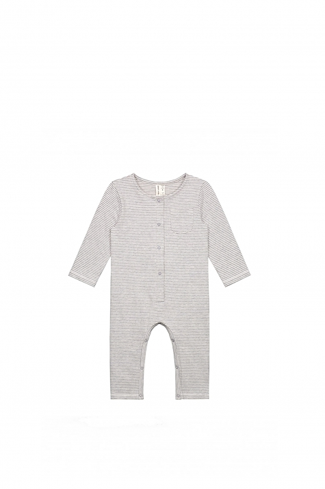 Playsuit, Grey/Cream Stripes